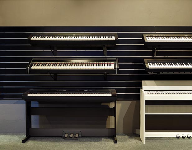 Digital Piano store showroom